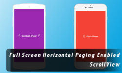 full width horizontal scrollview