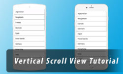 vertical scrollview