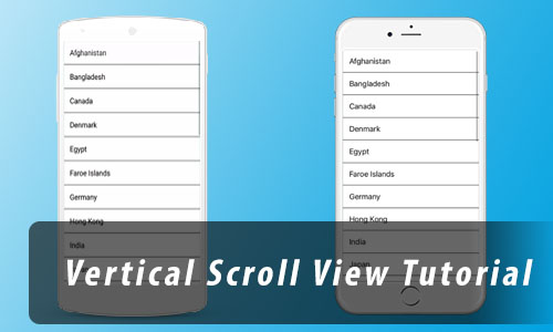 Create a Simple Vertical ScrollView in React Native Tutorial from