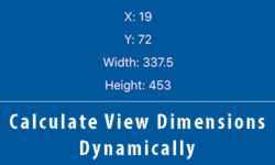 calculate view dimensions dynamically