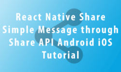 share simple message through share api
