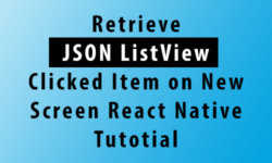 retrieve json listview clicked item