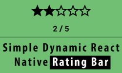 rating bar