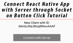 Connect React Native App with Server through Socket