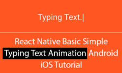 typing text animation